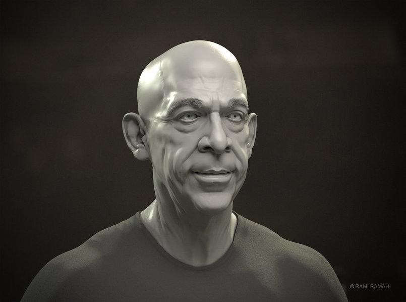 J.K. Simmons portrait study