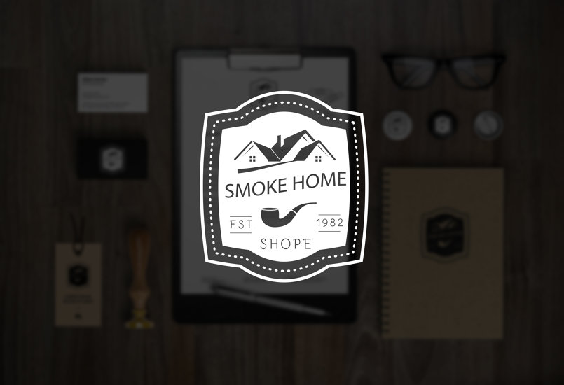 logo نموذج 1 لمحل Smoke Home