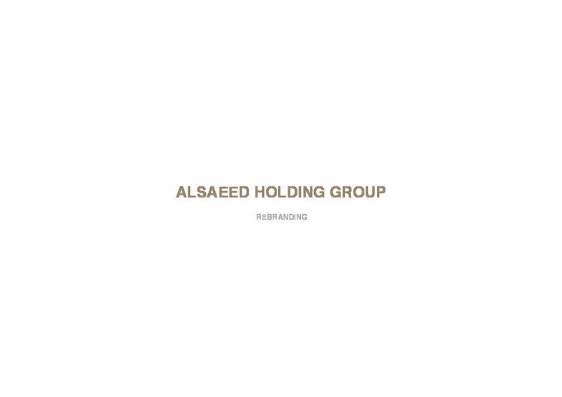 MAZEN ALSAEED HOLDING - Re-Branding