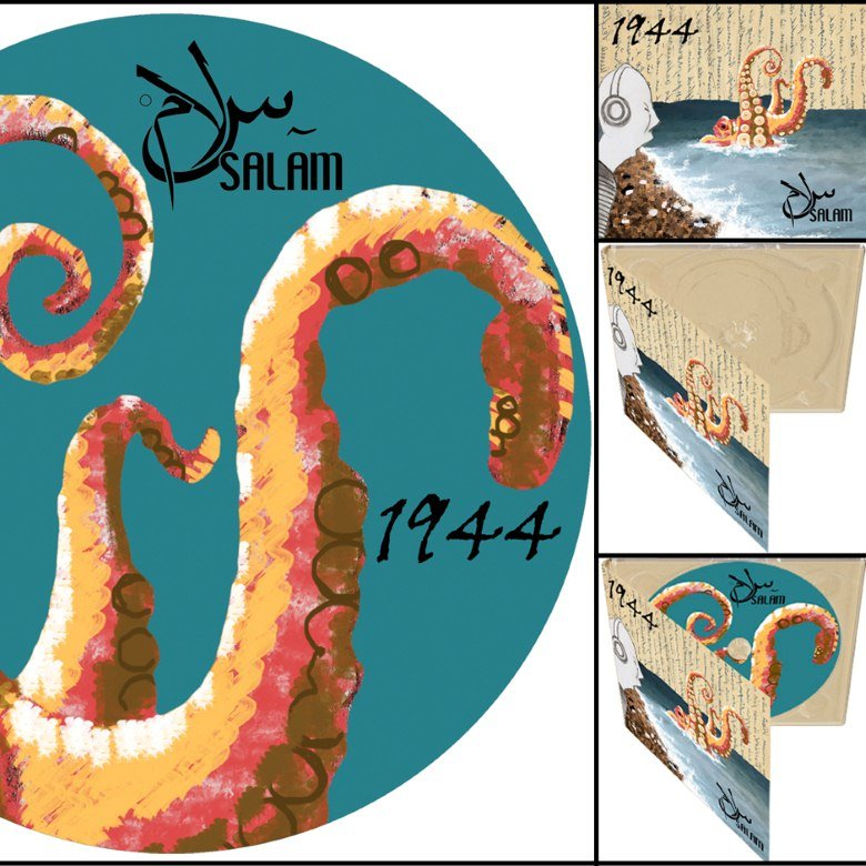 "Cover art and layout for my band's CD ""1944 - SALAM"""