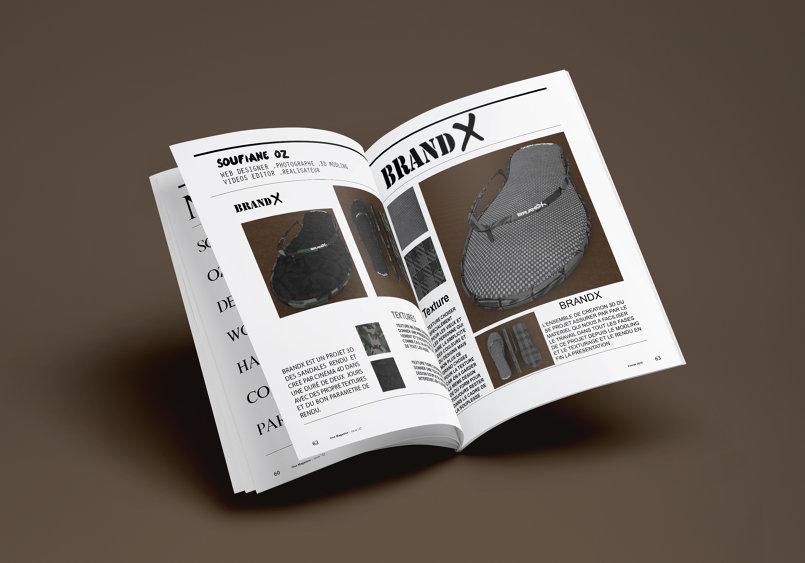 Brand X sandale design 3D
