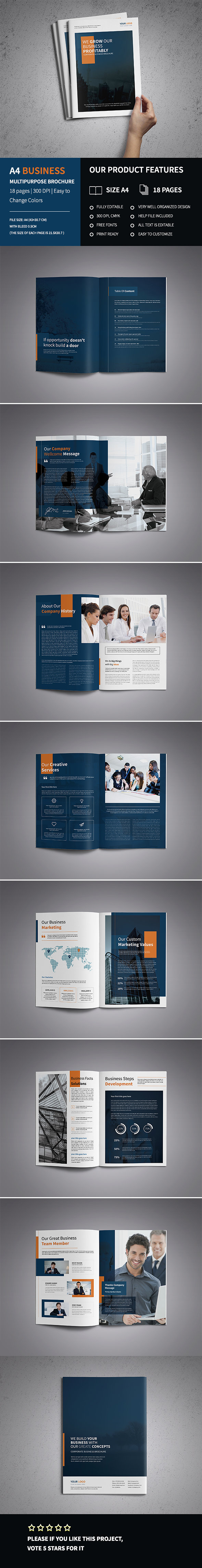 A4 Corporate Business Brochure Template