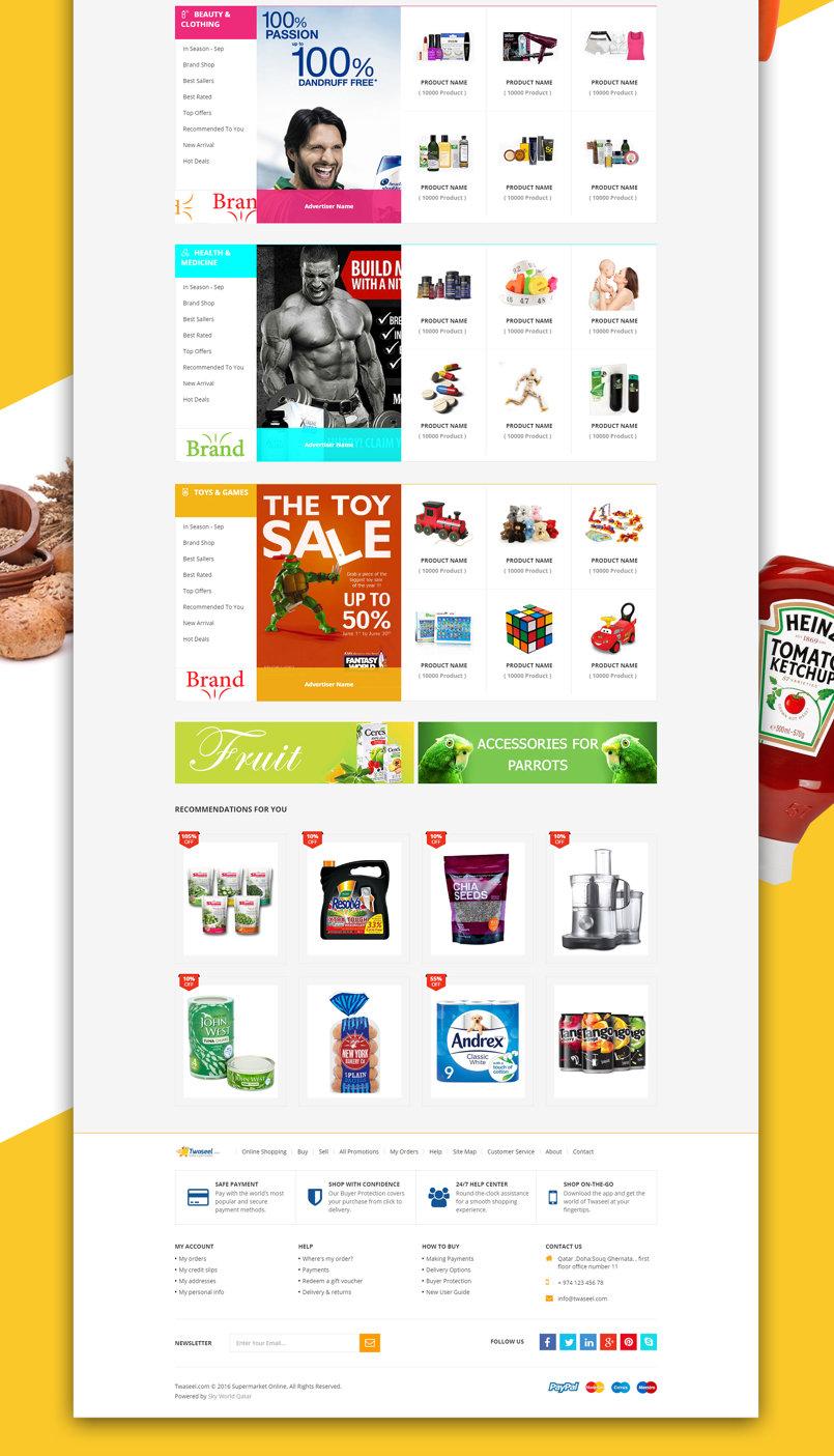 Twaseel Super Market Online Branding Proposal