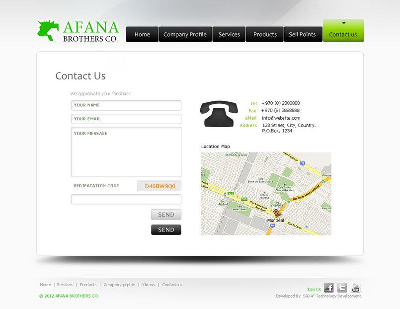 Afana Web site