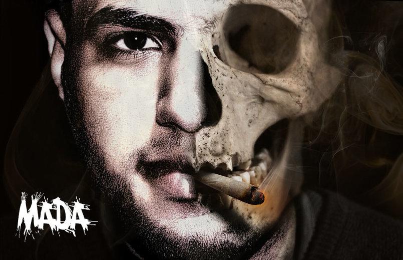 تصميم لمن يدخن يسبب الوفاة لاحقن