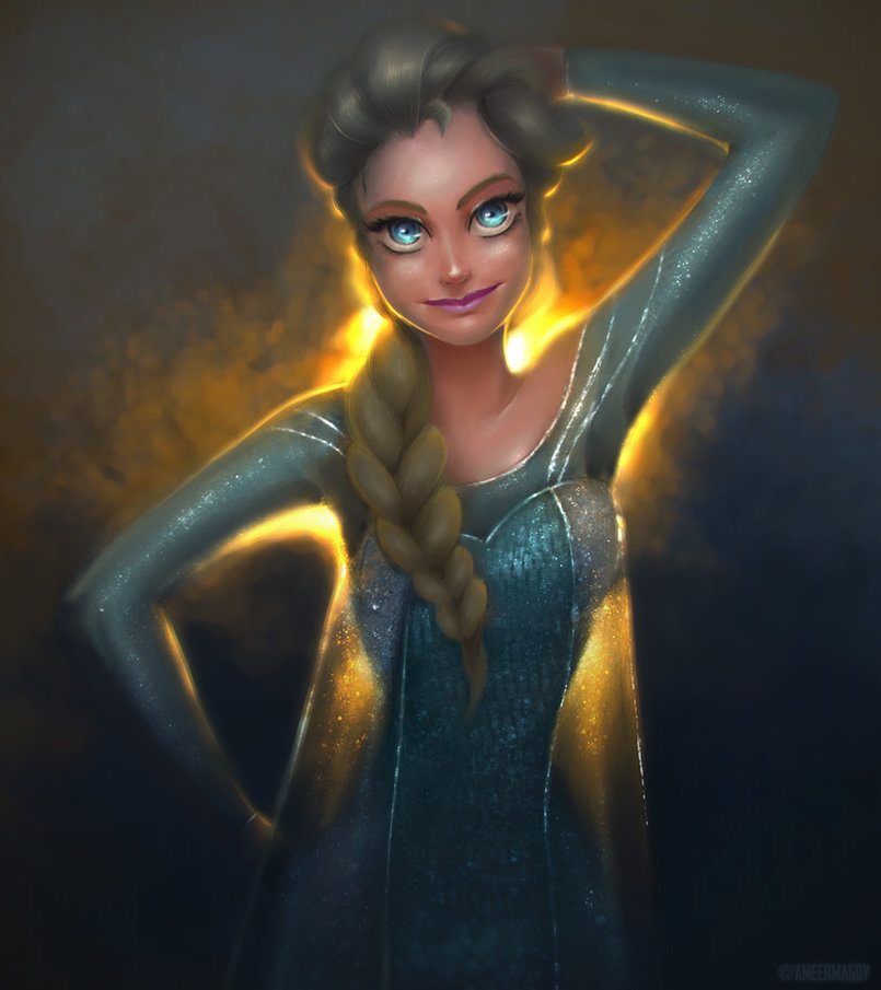 The Snow Queen Elsa.