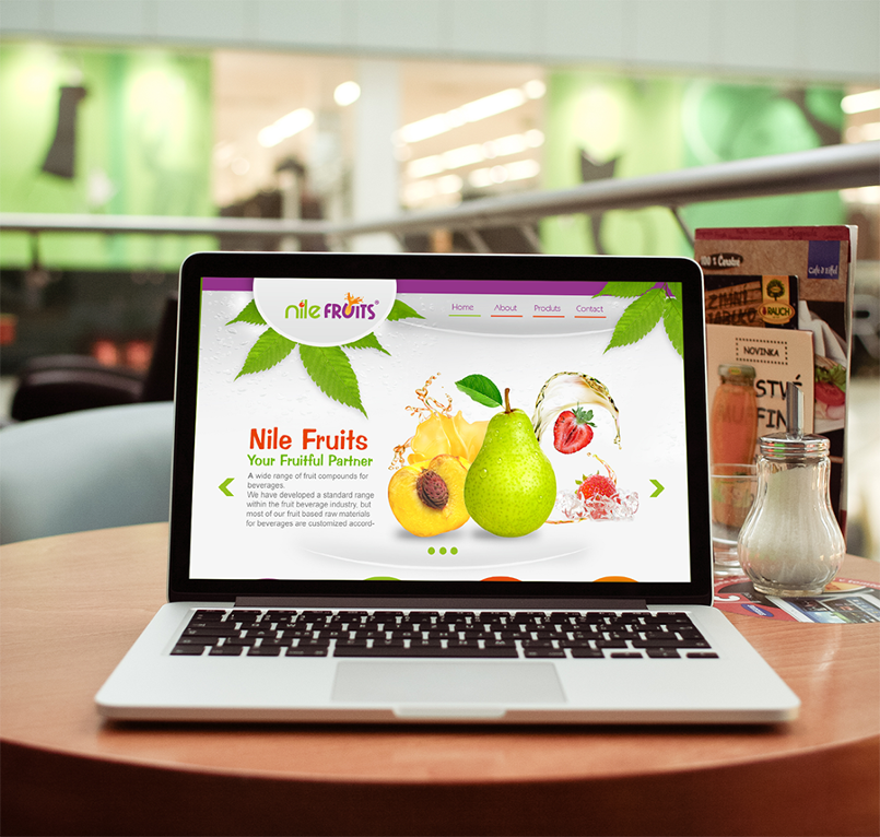 تصميم موقع Nile fruits