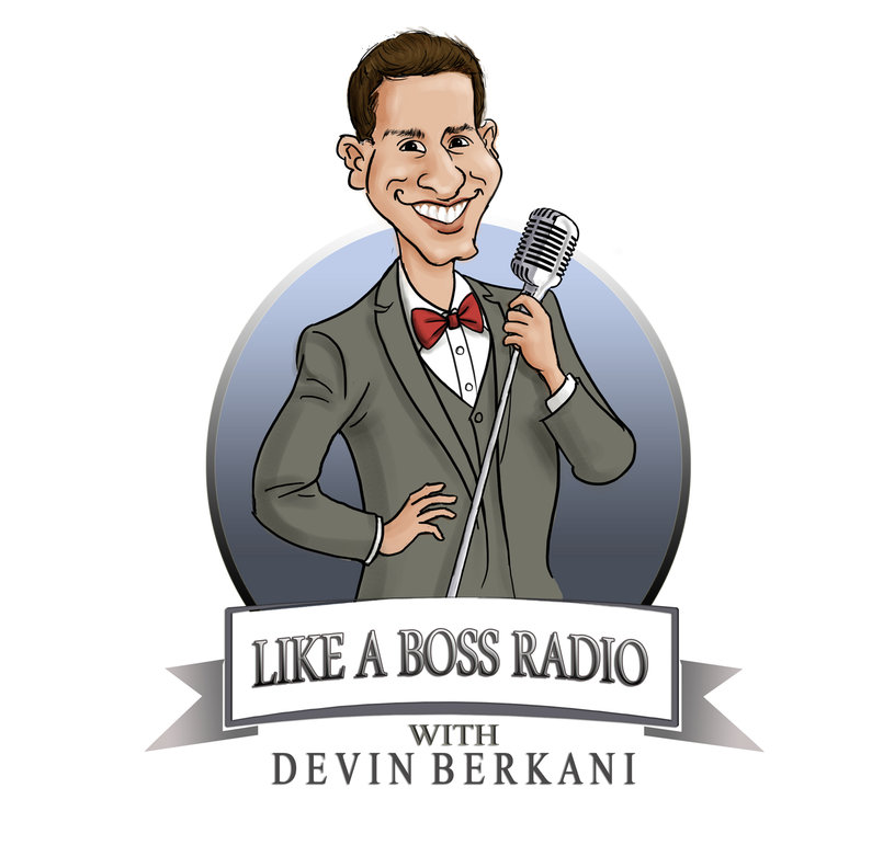 website logo for Like a Boss Radio