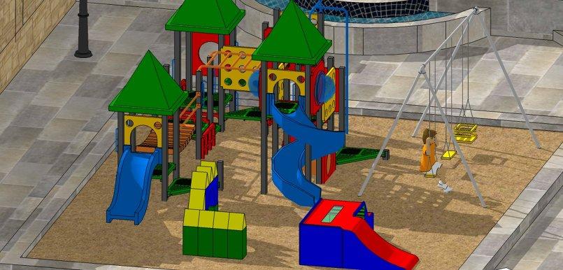 تصميم حديقة ثلاثية الابعاد على برنامج Sketch Up