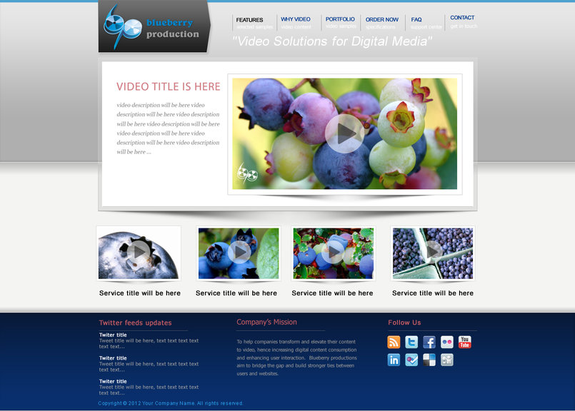 Blue Berry Production Web site