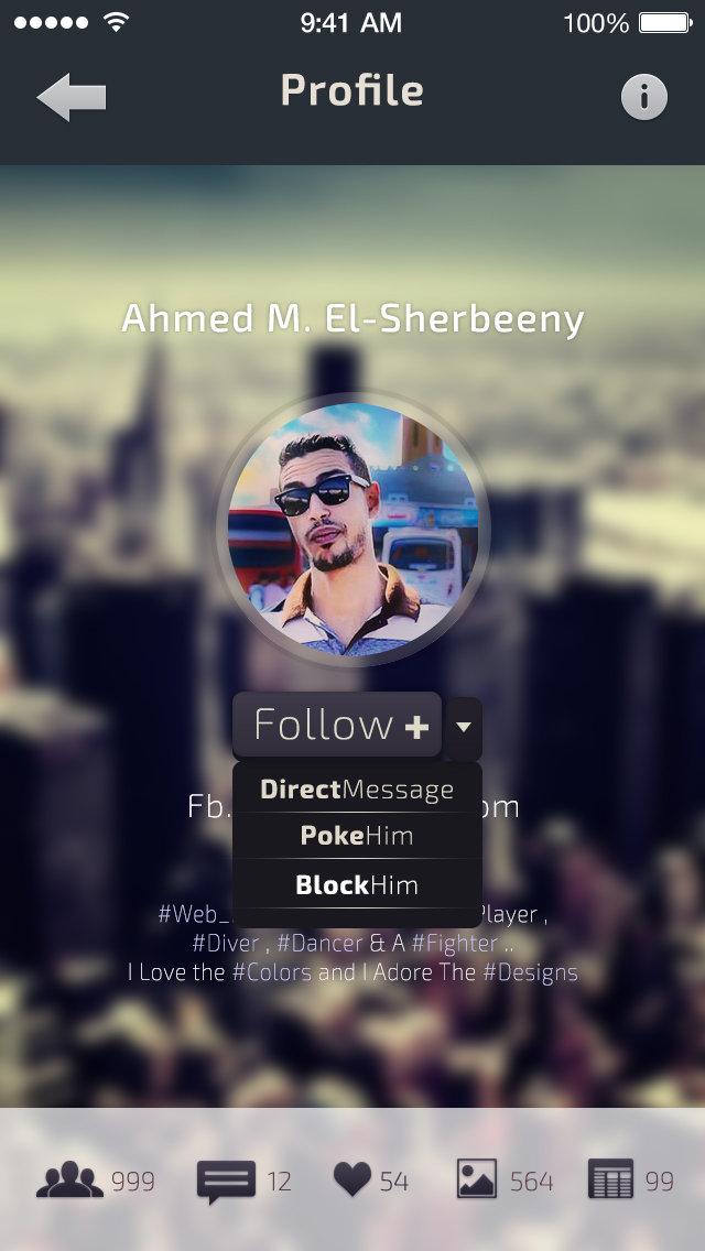 Profile Follow (More) DM