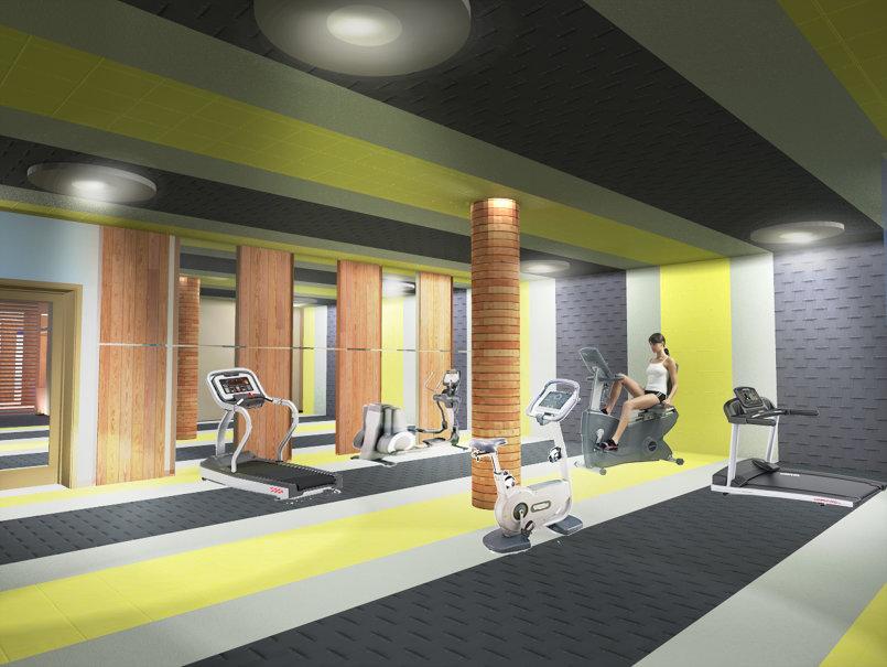 Salle sport 3D