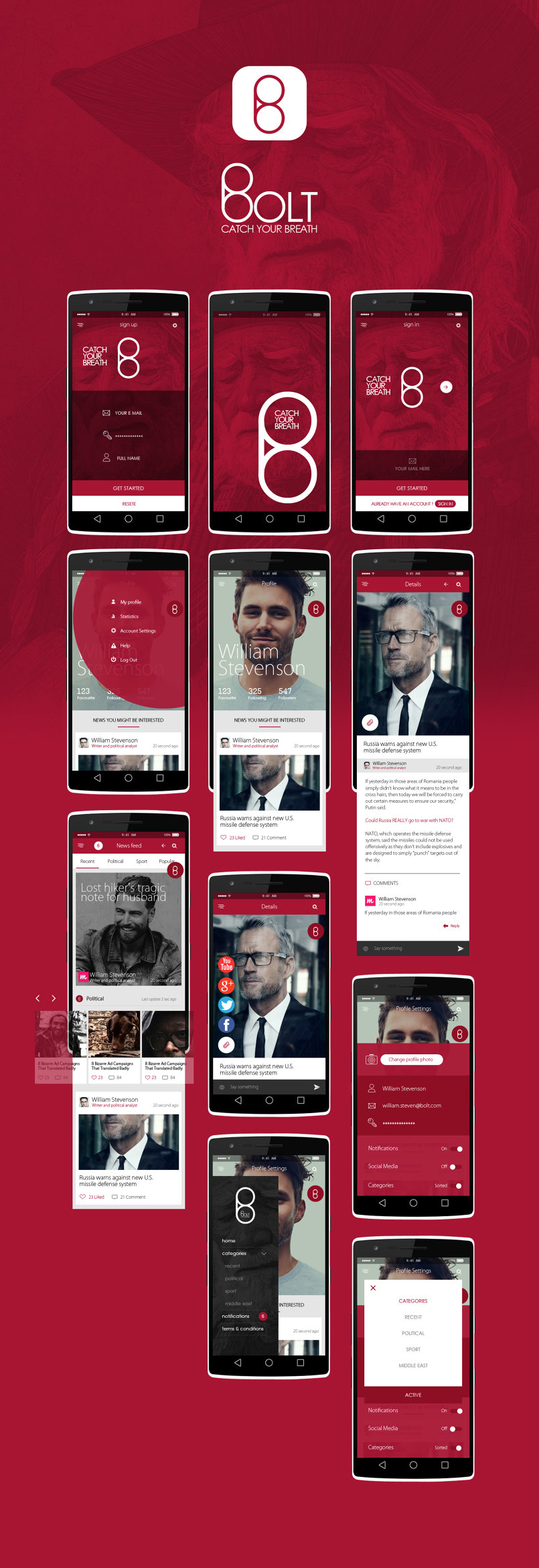 Bolt Ui \ Ux Mobile app design
