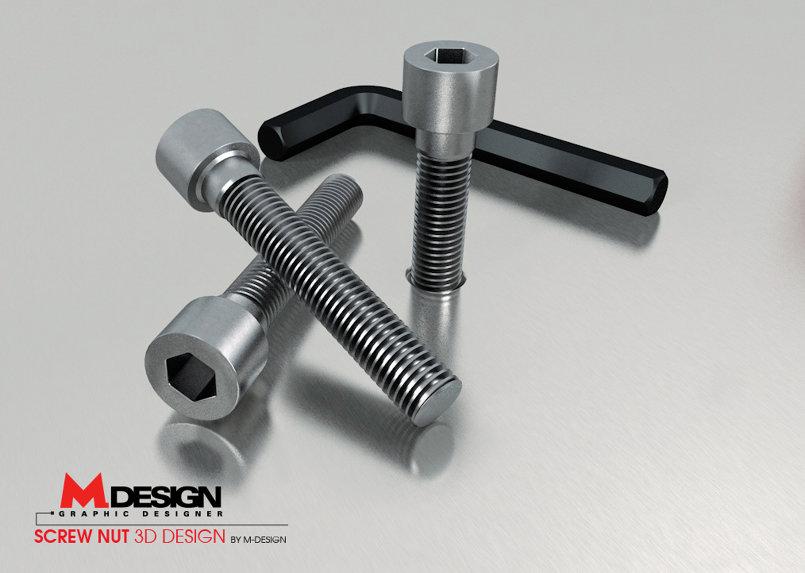 Screw Nut - 3D design