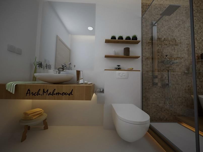 تصميم حمام رئيسي