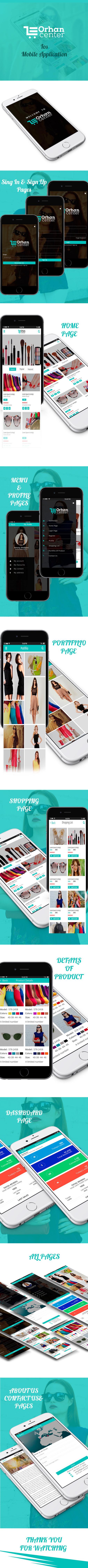 تصميم تطبيق موبايل لمتجر ملابس نسائية واكسسوارات وغيرها