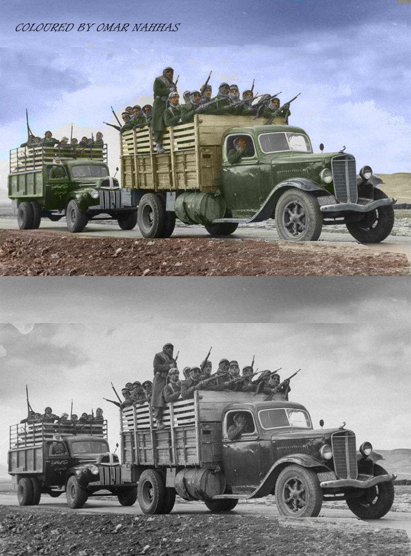 قوات الانقاذ الوطني متجهة إلى فلسطين عام 1948 م