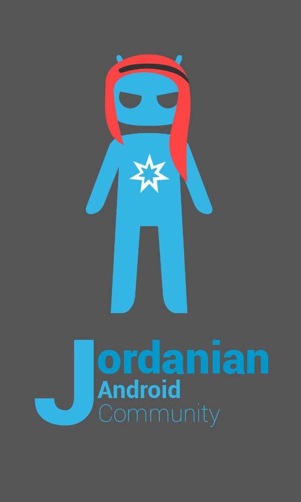 Blue/Black Logo For Jordanian Android Community