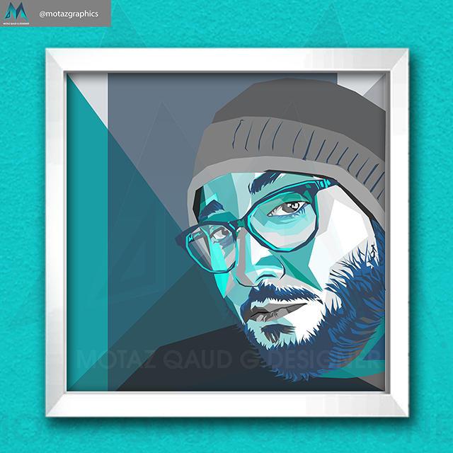 1 - 1 - رسم الwpap art احد اعمالي في حسابي على الانستغرام @motazgraphi