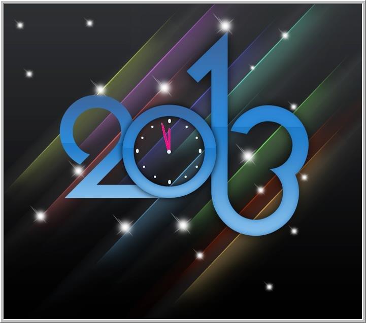 تصميم بقدوم العام الجديد 2013