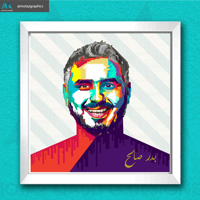 4 - 4 - رسم الwpap art احد اعمالي في حسابي على الانستغرام @motazgraphi