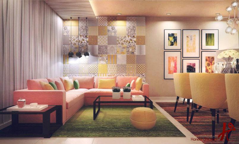 modern salon and diningroom