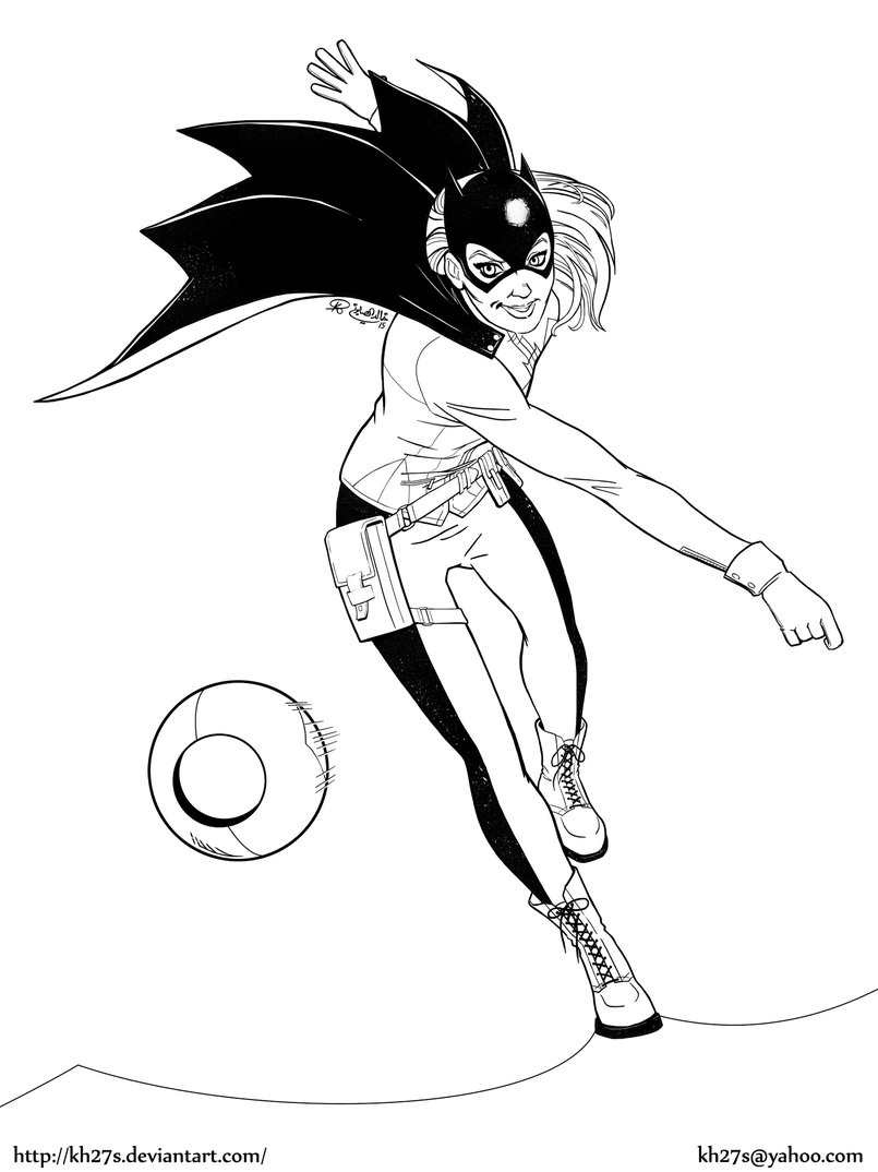 The New 52 Batgirl - Inks.