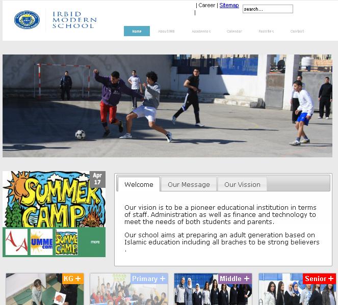 Irbid Modern School Website