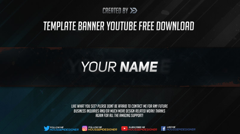 2d Template Youtube Banner Template In Photoshop من تصميم