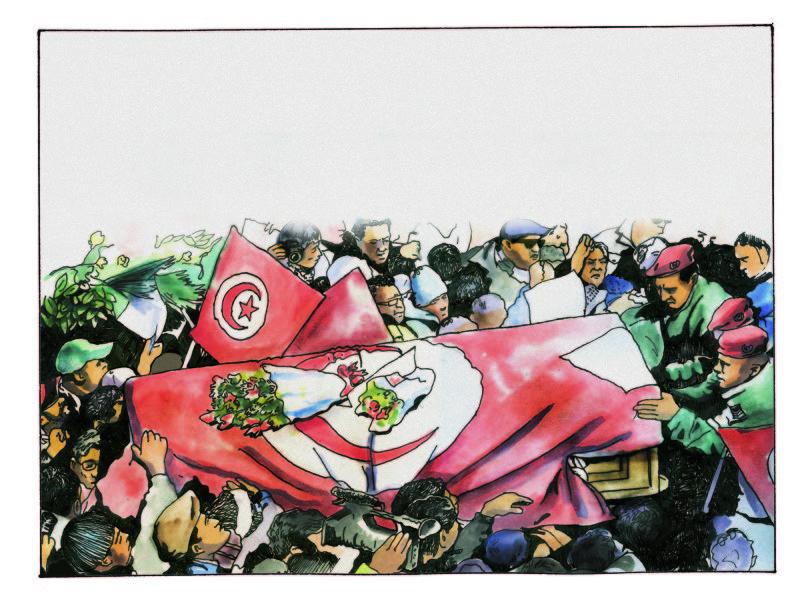 L'enterrement de la démocratie .