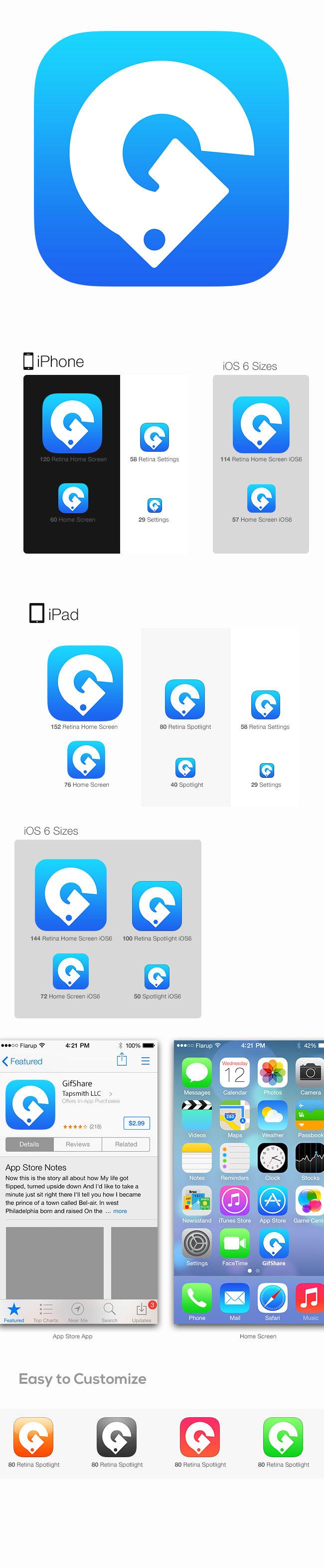Gif Share IOS Icon