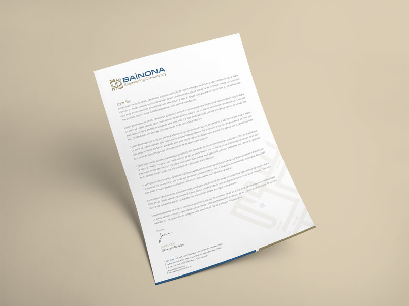 Corporate Identity:BAINONA Engineering Consultancy (U A Emirate)