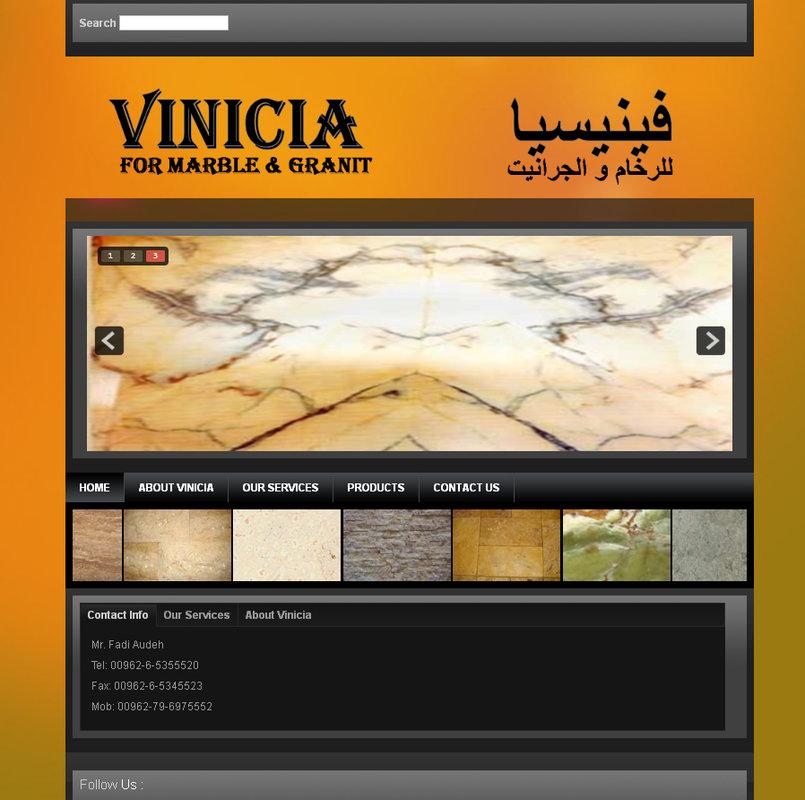 Vinicia Marble Website