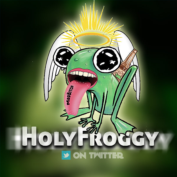 HolyFroggy LOGO FACEBOOK AND TWITTER
