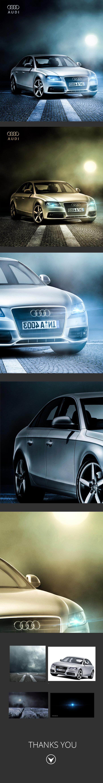 تصميم لسيارة audi