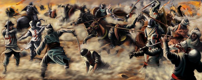 أورشليم رسم بالتابلت بانوراما معركة