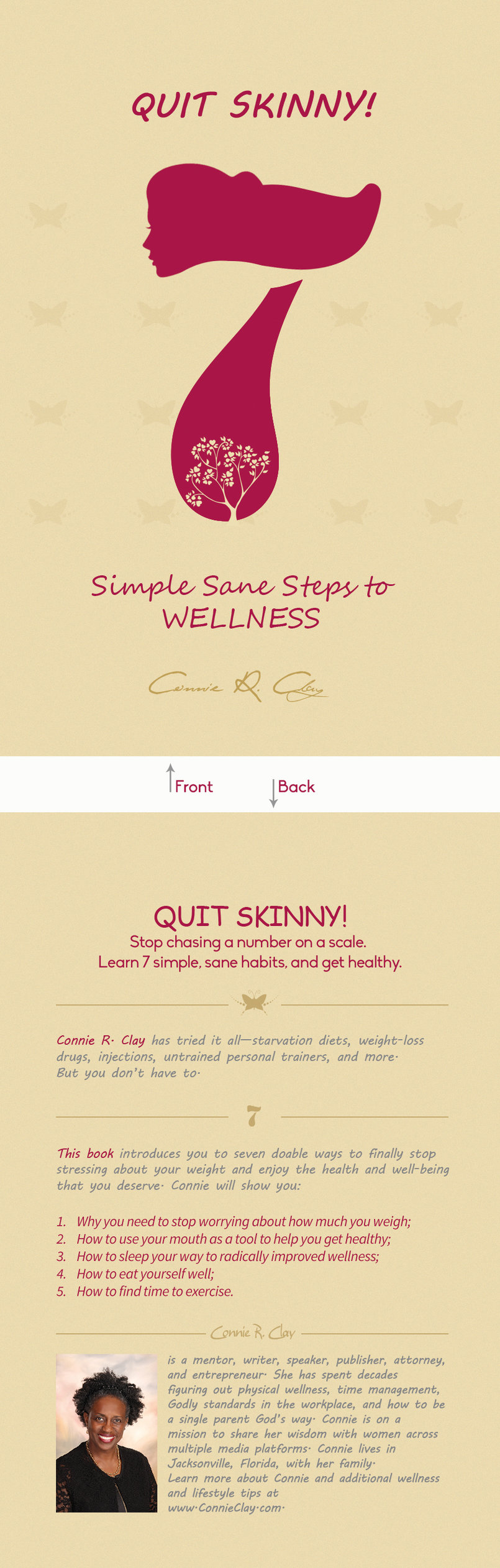 Quit Skinny 7 steps .... book cover design