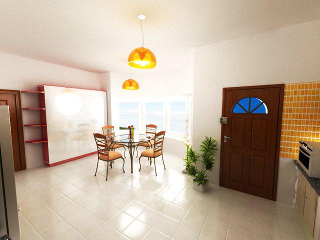 modélisation et décoration d'une cuisine