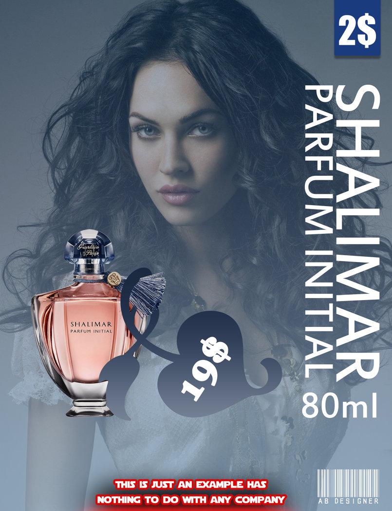 غلاف للإعلان عن رائحة