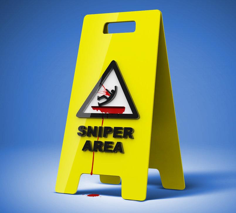 3D Sniper Area Sign