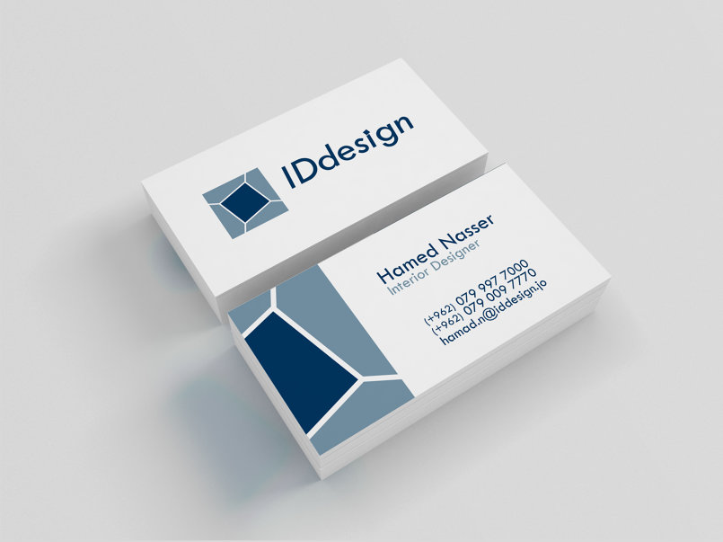 Step 3: Designing the business card.