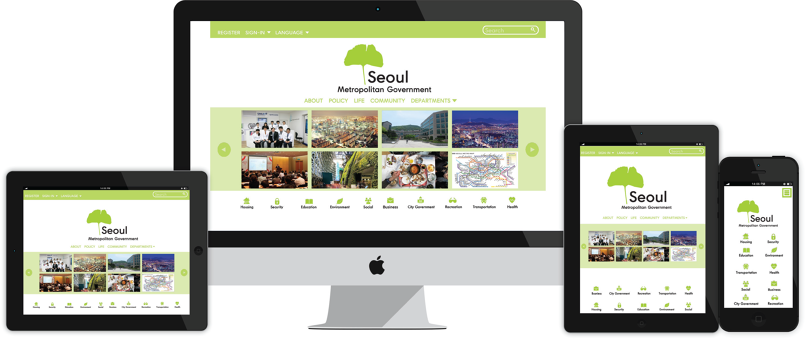 Website Homepage for Seoul City