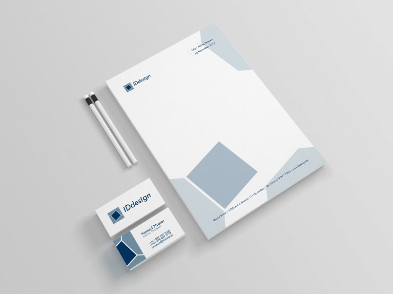 Letterhead and business card.