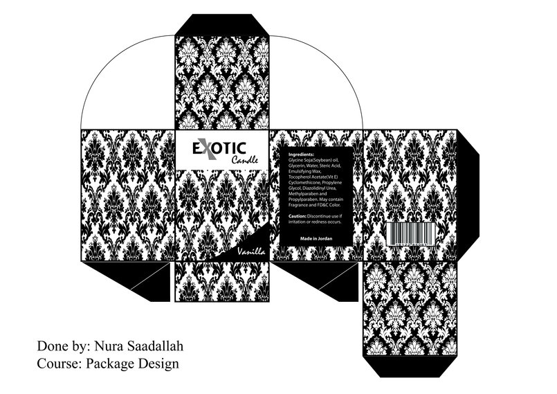 Candle Package Design for Exotic Candle Company