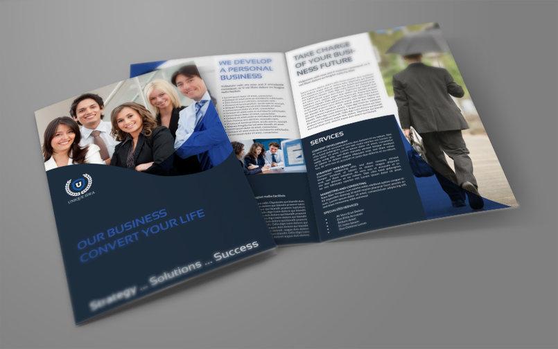 Company Brochure Bi-Fold Template Vol.36