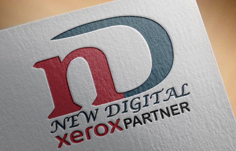 علامة تجارية لشركة طباعه (هوية شركة)    باسم New Digital