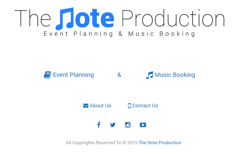 The Note Production WebSite
