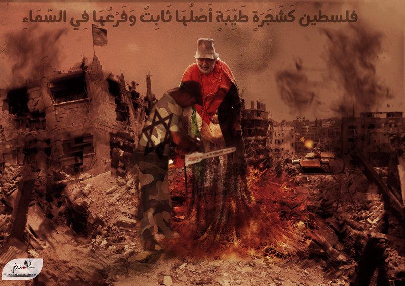 فلسطين كشجرة طيبة اصلها ثابت-وفروعها-في-السماء