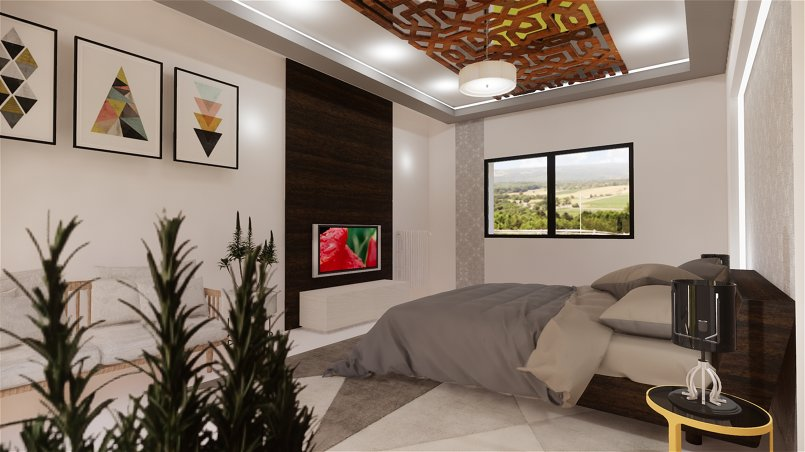 Villa exterior and interior design