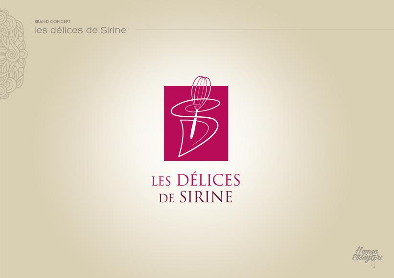 هوية بصرية / شعار لمحل حلويات '' Les délices de sirine  ''